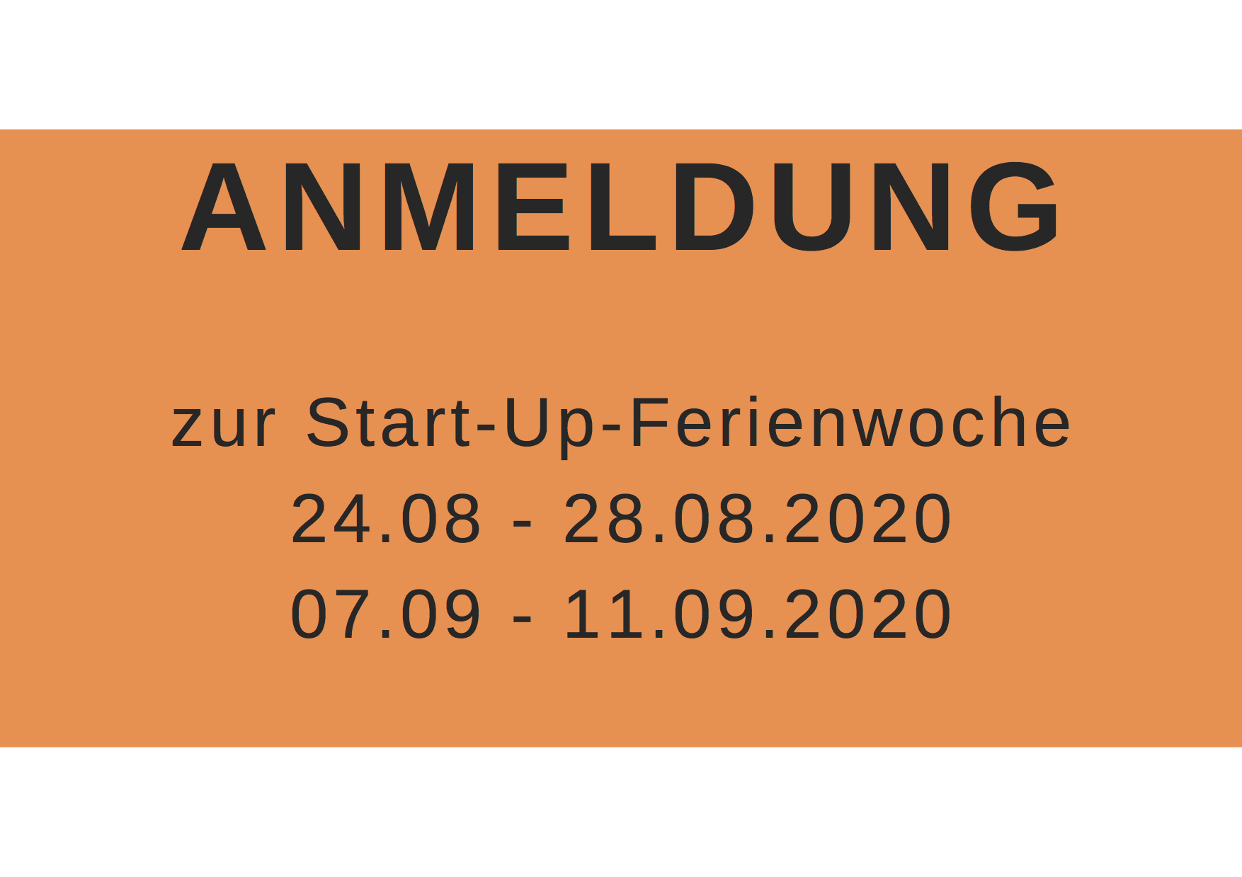 Anmeldung Start-up-Ferienwochen 2020 in Stuttgart/Feuerbach